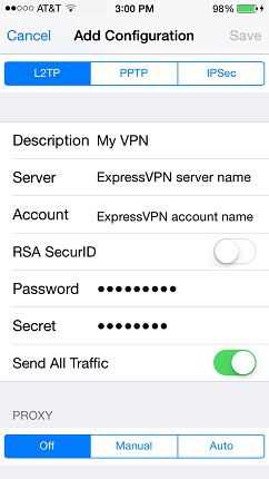 ExpressVNP应用程序设置和手动设置有什么区别
